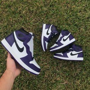 "Air Jordan 1 High ""Court Purple 2.0"""